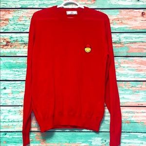 AMI Paris Smiley Cotton Sweatshirt